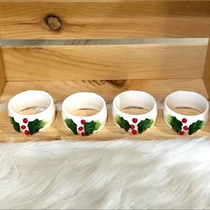 🛍 Vintage 1984 holly napkin rings